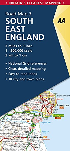 Road Map Britain 3 South East England 1: 250 000 (Aa Road Map Britain, Band 3)