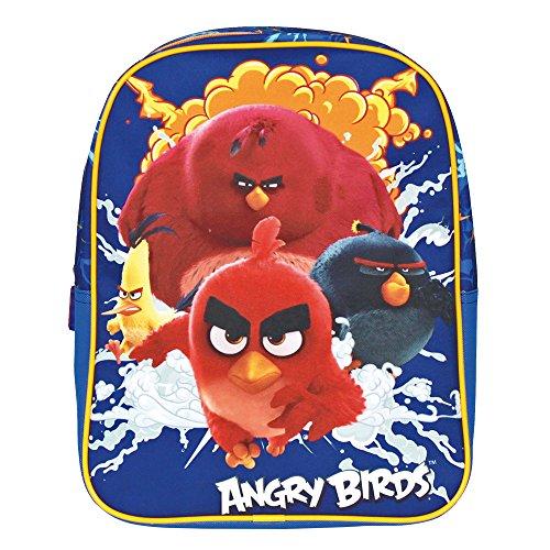 Prix Petit Sac à dos Enfants de Angry Birds – Cartable Scolaire avec Red, Chuck, Bomb et Terence – Sac d'école pour le jardin d'enfants avec bandoulières réglables – Bleu – 31x24x10 cm – Perletti