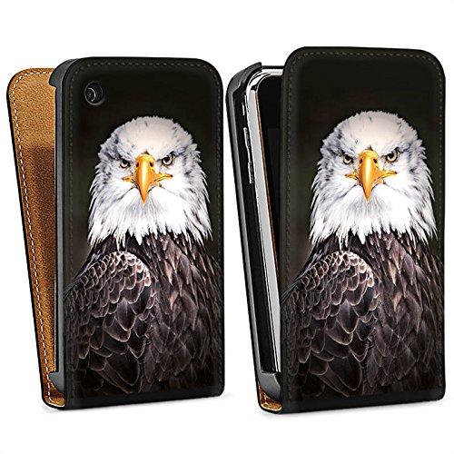 Apple iPhone 5s Housse Étui Protection Coque Aigle Aigle Oiseau Sac Downflip noir