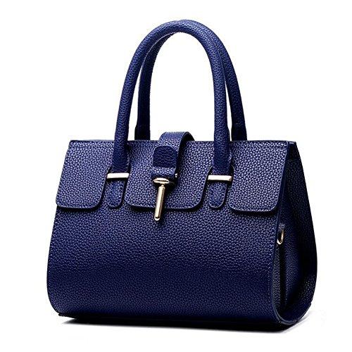 Beatayang Damen Elegant Schultertasche Handtasche Blau