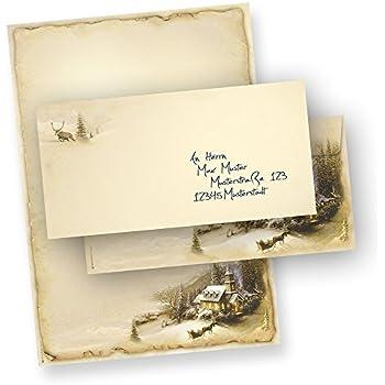 TATMOTIVE 05-0145-0090-00250 ROT-GOLDEN 250 Sets Weihnachtsbriefpapier mit Umschl/äge ohne Fenster f/ür Gesch/äftskunden