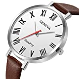 Xmansky Reloj unisex con cinturón de Ginebra, correa clásica retro con reloj exquisito, elegante y generoso
