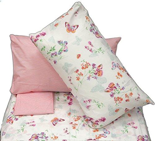 Zucchi lenzuolo new garden rosa v.1 matrimoniale (sopra lenzuolo 240x280+sotto lenzuolo 175x200 + 4 federe 50*80