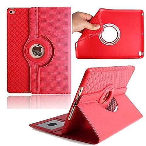 9.7 inch Tablet Case iPad 2/3/3 Coque,Avril Tian magnétique rotatif