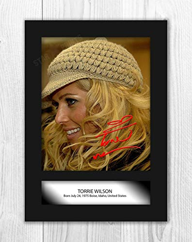 Engravia Digital Torrie Wilson WWE Reproduction Autograph Poster Photo A4 Print (Unframed)