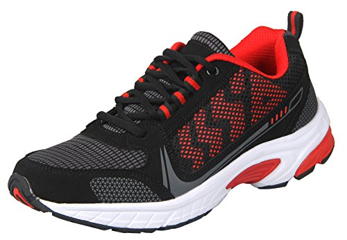ilovesia-delocrd da uomo scarpe da corsa Sport (gestito da Amazon solo), multicolore (Black+Red New Design), 42