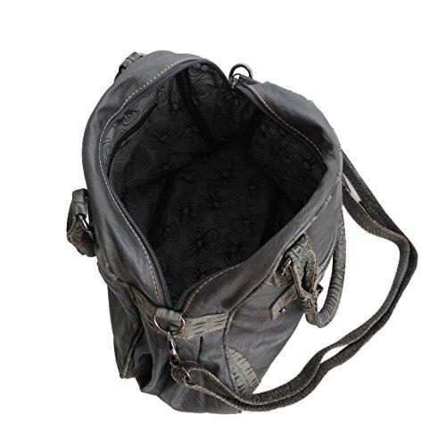 Jennifer Jones yizz - borsa donna a spalla borsa a tracolla per il trasporto - creata da ZMOKA disponibile in vari colori, grigio (Grigio) - 0 grigio