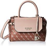 Guess Satchel Bag for Women- Beige/Brown