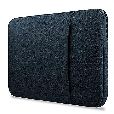 Crisant Premium Sleeve Housse pour ordinateur portable 11-11.6 pouce,Nylon Antichoc Notebook Computer Briefcase Sacoche / Tablette Étui Cover Pour Apple Macbook Air 11.6'' / Macebook Retina 12.0'' / Asus Zenbook / Lenovo / Samsung / Dell / HP / Acer / Sony / Chromebook (bleu foncé)