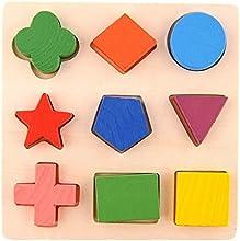 Hrph Niños Aprendizaje De Madera De Madera Geometría Juguetes Educativos Puzzle Montessori Early Learning