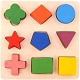 Hrph Kids Baby Wooden Learning Geometry Educational Toys Puzzle Montessori Early Learning