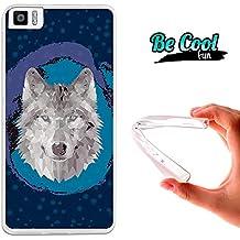 Becool® Fun - Funda Gel Flexible para Bq Aquaris M4.5 .Carcasa TPU fabricada con la mejor Silicona, protege y se adapta a la perfección a tu Smartphone y con nuestro diseño exclusivo Lobo Low Poly