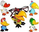 Unbekannt 1 Stück __ Brillenhalter -  Verschiedene Vögel  - stabil aus Kunstharz - universal Größe - für Erwachsene & Kinder / Brillenhalterung - lustiger Brillenstän..