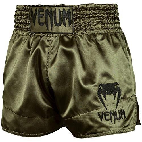 Venum Classic Thaibox Shorts, Khaki grün/Schwarz, L (Shorts Muay Thai)
