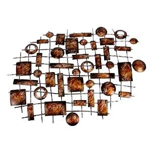 Landon tyler wanddeko aus metall abstrakt k che haushalt - Wanddeko metall abstrakt ...