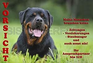 Metall-Warnschild Rottweiler