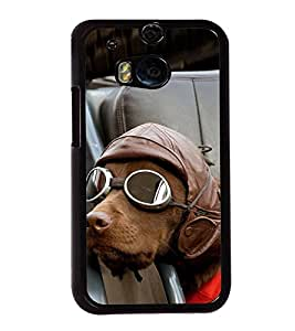 Vizagbeats Dog with goggles Back Case Cover for HTC One M8