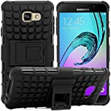 Dream2cool FOR Samsung Galaxy J5 Prime Tough Hybrid Flip Kick Stand Spider Hard Dual Shock Proof Rugged Armor Bumper Back Case Cover For Samsung Galaxy J5 Prime - BLACK