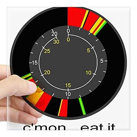 CafePress - Ice Fishing Flasher Square Sticker C'mon Eat - Square Bumper Sticker Car Decal, 3