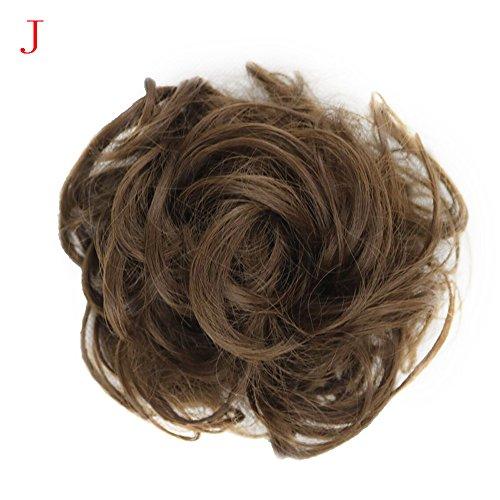 Luckhome Haargummi Haarteil Dutt Synthetik Haare Für Haarknoten Zopf Gummiband Hochsteckfrisuren Haarband Frauen Lockiges Unordentliches Brötchen-Haar-Wirbel-Stück Scrunchie - Rapunzel Kostüm Kurze Haare