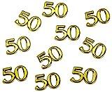 Konfetti Zahl 50 gold Deko Geburtstag Hochzeitstag - großes Konfetti