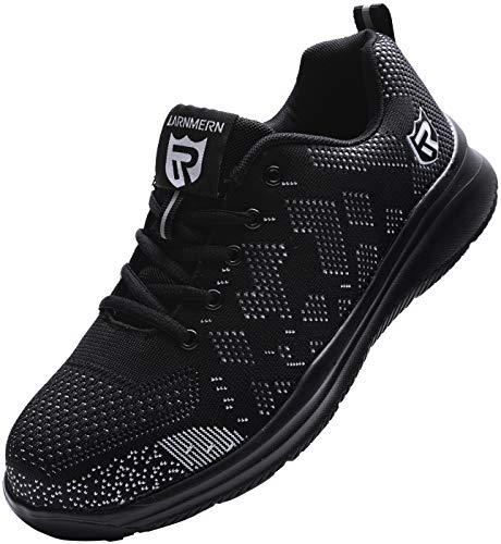 Zapatos de Seguridad para Unisex, S3 SRC Anti-Piercing Zapatillas de Trabajo con Puntera de Acero Zapatos de Industria y Construcción (Negro 36 EU)
