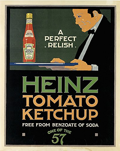 Price comparison product image Heinz Tomato Ketchup perfect relish METAL Wall Sign 6x8inches Plaque Vintage Retro poster art picture print