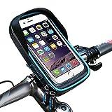 Fahrrad Handyhalterung LiGG Wasserdicht Fahrrad Rahmentasche Lenkertasche 360° Drehbar Mit Sonnenblende Für Handy Unter 6 Inch