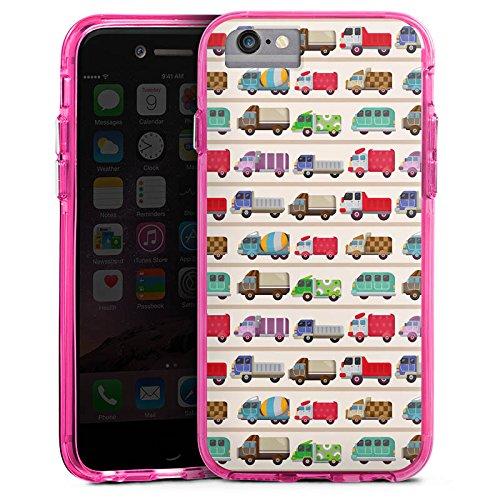 Apple iPhone 6 Bumper Hülle Bumper Case Glitzer Hülle Fahrzeug Auto Trucks Lkw Bunt Bumper Case transparent pink