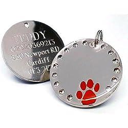 Médaille gravée pour animal domestique, personnalisable-