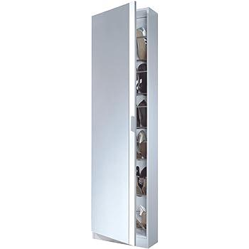 Scarpiera slim cinque ante a specchio legno ciliegio - Emporio del mobile in kit ...