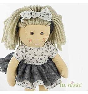 La Nina- Muñeca, Color Gris, 38 cm (62100)