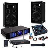 etc-shop PA Party Musikanlage Boxen 2400 Watt Endstufe USB MP3 Mixer Funkmikrofon DJ-Party 3
