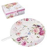 London Boutique Porzellan Keramik Tortenständer Teller 30,5cm mit Palette Messer Tulpenmotive Chic Floral Cut Eule Design in Geschenkbox, Porzellan, Bird Rose Butterfly, 22x26