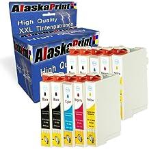 Premium Conjunto de 10 Cartuchos de Tinta Compatible con Epson T0711 T0712 T0713 T0714 XL Multipack Para epson stylus dx4400 dx8400 dx4050 dx8450 dx7450 dx7400 10x0711-Epson