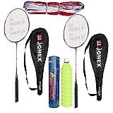 #10: Hipkoo Jonex Ayush Badminton Complete Set (2 Racket, Pack Of 10 Shuttlecocks and Net) Badminton Kit