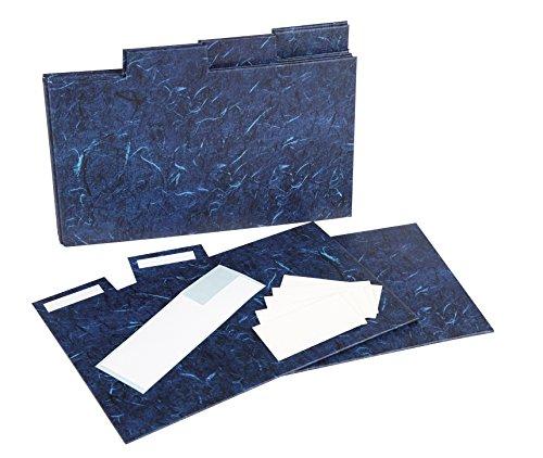 index5pkblue photo Album Company Intercalaires pour photo rigide de rangement Boîte Cadeau. Lot de 5en bleu foncé effet marbre