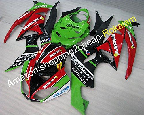 KAWASAKI NINJA Kit ZX6R 09 10 11 12 ZX 6R 636 ZX636 2009-2012 ZX-6R Motorrad-Verkleidungen Teile (Spritzguss) (Zx6r Verkleidungen 2009)
