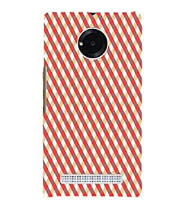 Fiobs Designer Phone Back Case Cover YU Yunique ( Colorful Pattern Design Biege Orange )