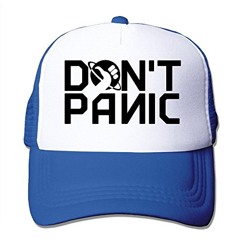 Dont Mesh (YSC-Dier Custom Adult Mesh Don't Panic Logo Basketball Caps Black Royalblue)