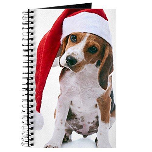 CafePress - Beagle Puppy in Santa Red Hat - Spiralgebundenes Tagebuch, persönliches Tagebuch, liniert