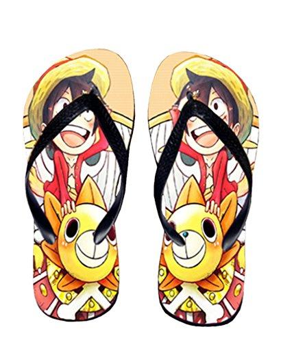 Bromeo One Piece Anime Unisex Flip Flops Zehentrenner Flip Pantoffeln 366
