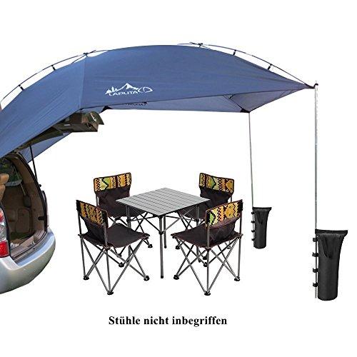 Sport Tent-Wasserdichtes Heckzelt Klappzelt Tragbares Auto SUV Zelt Anhänger Markise für Camping 4 Personen mit 2St Sandsäcke Zelt Stange Bodennagel -