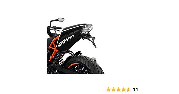 Topteng Posteriore del motociclo targa del supporto con luce per K-T-M DUKE 390 2017-2019
