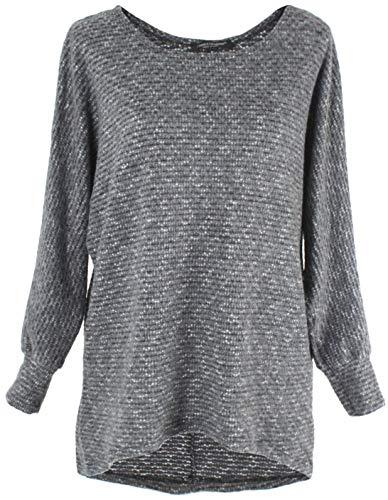Emma & Giovanni - Damen Strickpullover/Pullover (Grau, XL/XXL)