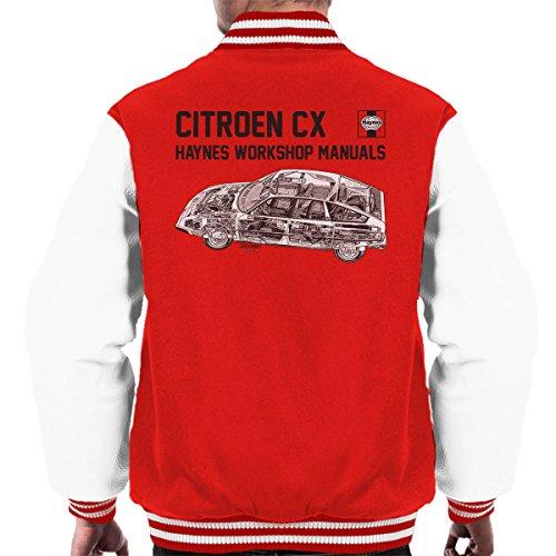 POD66 Haynes Workshop Manual 0528 Citroen CX Black Men's Varsity Jacket