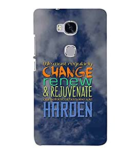 For Huawei Honor 5X :: Huawei Honor X5 :: Huawei Honor GR5 we must regularly change ( good quotes, nice quotes, quotes, sky, cloud ) Printed Designer Back Case Cover By Living Fill