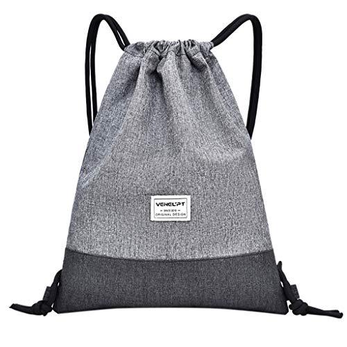 holitie Strandtasche Outdoor Fitness Sport Bag Bundle Tasche Unisex-Rucksack mit Kordelzug Messenger Bag Kuriertasche Vielseitig - E1-bundle
