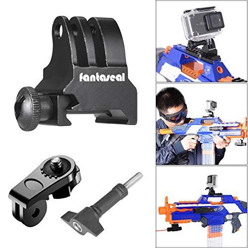 Picatinny Pistolen-Halterung, Aluminiumlegierung, Airsoft Gun Kamera-Halterung Adapter für Shotgun Jagdpistole Luftpistole Karabiner Pistole AR-15 M4 M16 kompatibel für GoPro Sony Action Kamera etc