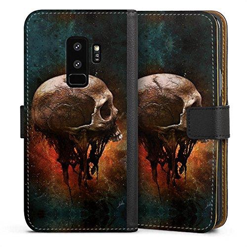 us Tasche Leder Flip Case Hülle Skull Halloween Scream (Kunststoff-halloween-taschen)